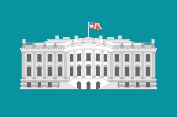 White House America. Residence of President USA.